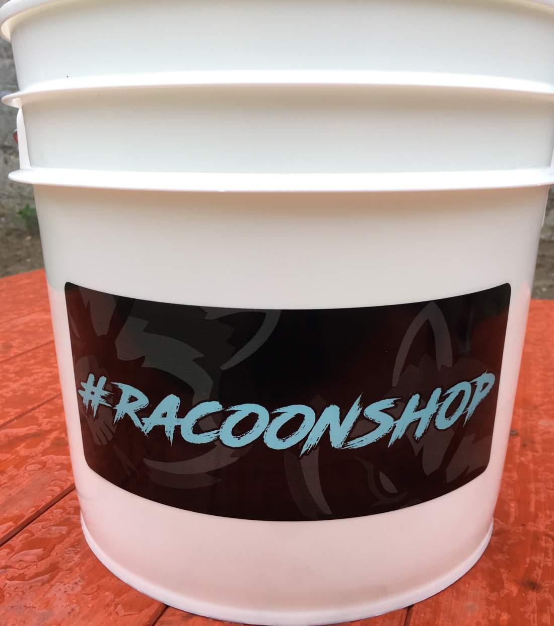 Racoonshop Detailer Vödör koszráccsal, fekete vagy fehér 13,25L (új)